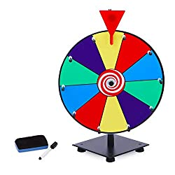 powerful T-SIGN 12 inch heavy duty prize wheel, 10 slot color table top prize wheel, …