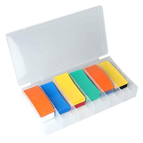 (Kit de envoltura de batería de tubo termorretráctil de PVC de 280 piezas para batería 18650 con caja de almacenamiento
