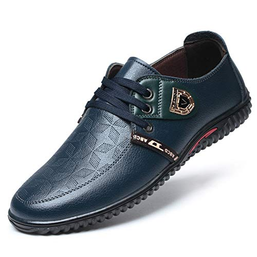 Qianliuk Männer Freizeitschuhe Frühlingsmode Freizeit Schuhe Lace Up Komfortable Atmungsaktive Leder Wohnungen Für Männer