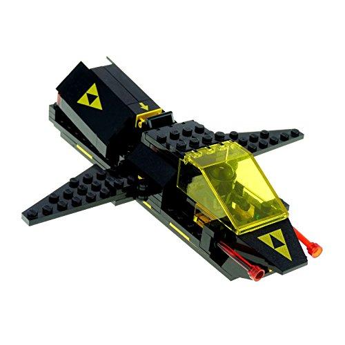 1 x Lego System Raumschiff schwarz Set Modell Space Blacktron I 6894 Invader mit Figur incomplete unvollständig