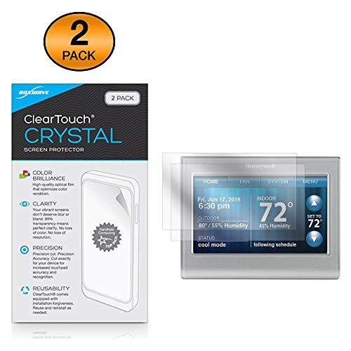 Honeywell Wi-Fi Smart Color Thermostaat (RTH9585WF) Screen Protector, BoxWave® [ClearTouch Crystal (2-Pack)] HD Film Huid - Beschermt tegen krassen voor Honeywell Wi-Fi Smart Color Thermostaat (RTH9585WF)