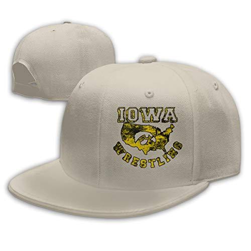 Unisex Iowa USA Wrestling Fashion Trucker Hat Baseball Cap Cotton Adjustable Cap Dad Hat