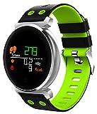 Pulsera Inteligente Reloj Inteligente Bluetooth Fitness IP68 Pantalla Impermeable Actividad Adecuado para Niños, Niñas y Niños-Verde