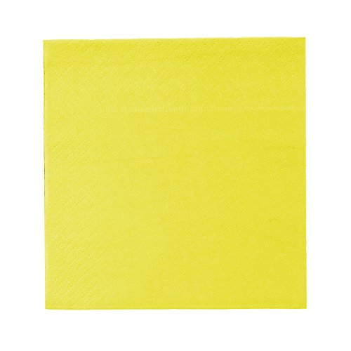 Cocktail Napkins - 200-Pack Disposable Paper Napkins, 2-Ply, Neon Yellow-Chartreuse, 5 x 5 inches Folded
