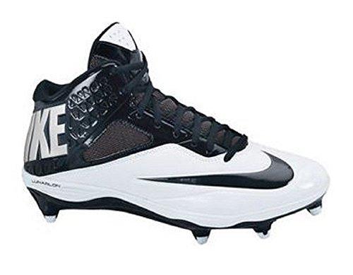 NIKE Men's Nike Code Pro 3/4 Detachable WIDE Football Cleat Black/Silver