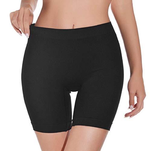 heekpek Bragas Pantalon Mujer Cintura Alta Bragas sin Costuras para Mujeres Anti fricción Calzoncillos Boxer Panties Antideslizantes Color Sólido Debajo de Los Vestidos