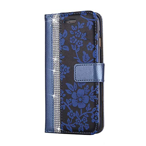 iPhone 6S / iPhone 6 Hülle, SONWO PU Leder Brieftasche Flip Schutzhülle, TPU Bumper Flip Schutzhülle Kompatibel iPhone 6S / iPhone 6 mit Karte Schlitz, Blau