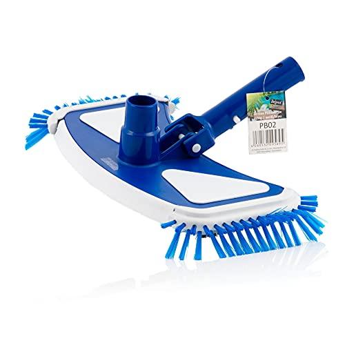 Zelsius, pulitore per piscina con 8 spazzole inferiori e 4 spazzole laterali | Rettangolare | pulitore per fondo piscina con attacco del tubo di diametro di 32/38 mm | Spazzola pulitrice per stanga