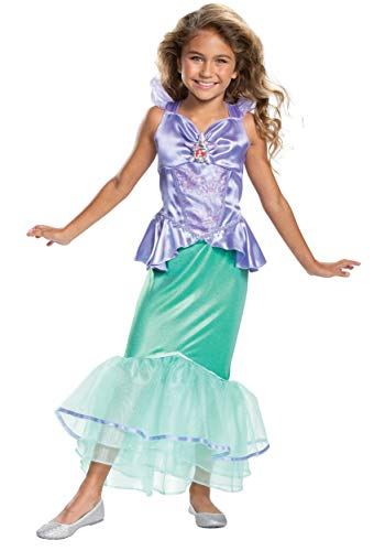 Disguise Little Mermaid Girls Ariel Classic Costume Size 4/6