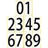 数字 シール 【特大】 66K091 ナンバー ステッカー ゼッケン 防水 大きい ラベル 番号 ユポ PP加工 耐候性 屋外【66×132mm/片】0~9の10種各1片×1セット 66K091
