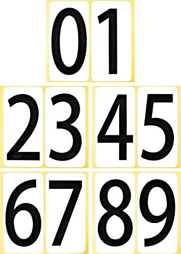 数字 シール 【特大】 66K091 ナンバー ステッカー ゼッケン 防水 大きい ラベル 番号 ユポ PP加工 耐候性 屋外【66×132mm/片】0〜9の10種各1片×1セット 66K091