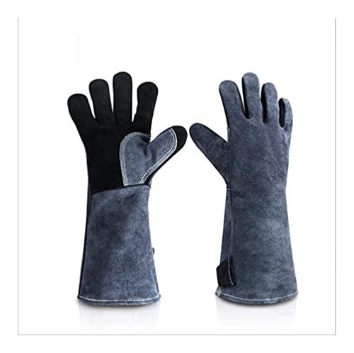 Los guantes de barbacoa pueden soportar la temperatura de 932 ° F, guantes de barbacoa para barbacoa, cocinar, hornear, soldar, cortar, resistentes al calor y al calor, guantes de cocina para microond