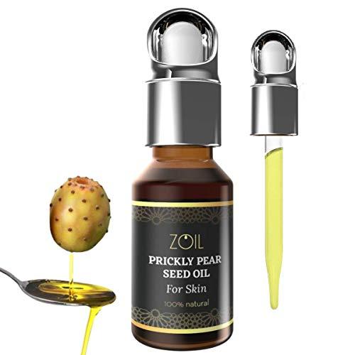 Kaktus-Feigenkernöl, natürliches Anti-Aging, 100 % rein & biologisch, kaltgepresst, vegan, ohne OMG, intensive Feuchtigkeitspflege für das Gesicht, 15 ml