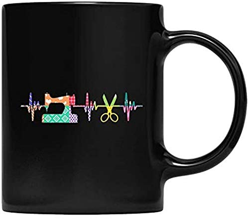 Quilter Sewing Heartbeat Mug For Quilting Lover MM