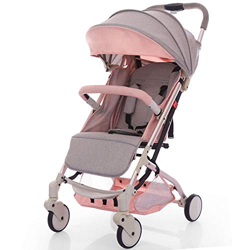KimCC 3 in 1 Infant Pram with Shock-Resistant Pushchair Car Seat, Carrycot, Mattress, Light Buggy From Birth Adjustable Handle, Small Folding