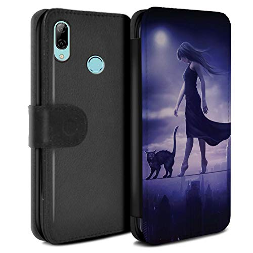 Elena Dudina PU lederen hoesje/portemonnee/OTH-PSW/Dark Magic Collection Huawei P Smart 2019 Sleepwalker/Insomia