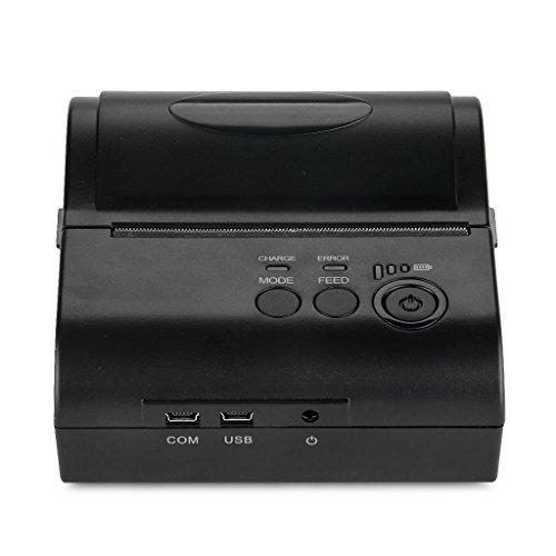 Excelvan - Impresora térmica inalámbrica Bluetooth portátil Dot impresora de punto de venta 80 mm recibo recibo USB ESC/POS/STAR para Android móvil o tablet (80 mm)