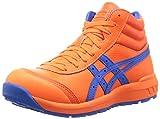 アシックス ワーキング 安全靴/作業靴 ウィンジョブ CP701 JSAA A種先芯 耐滑ソール 天然皮革 fuzeGEL搭載 ショッキングオレンジ/エレクトリックブルー 26.0