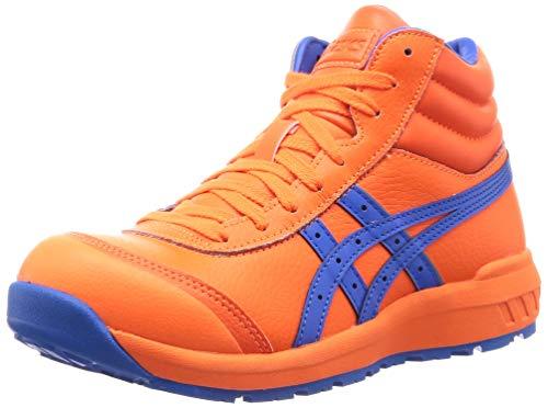 [アシックス] ワーキング 安全靴/作業靴 ウィンジョブ CP701 JSAA A種先芯 耐滑ソール 天然皮革 fuzeGEL搭載 ショッキングオレンジ/エレクトリックブルー 25.5
