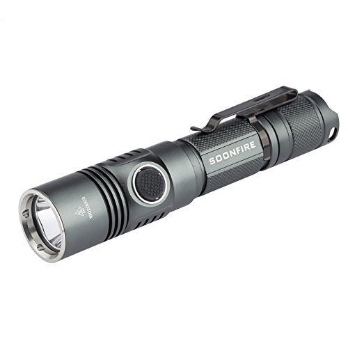Tactical Flashlight With 3400mAh Battery 1050 Lumens Cree LED Compact Tactical Rechargeable Flashlight-Soonfire DS31