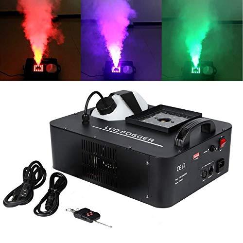 TC-Home DMX Fog Machine 1500W 3 in 1 RGB Party 24 LED DJ Stage Smoke Effect Wireless Remote