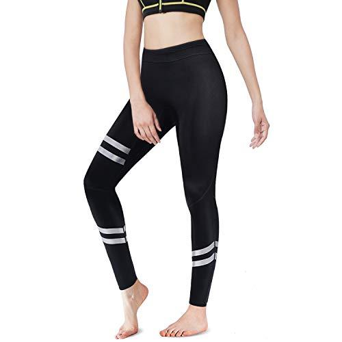 CtriLady Women's Wetsuit Long Pants,1.5mm Neoprene Pants Wetsuit Legging Keep Warm for Swimming Surfing Diving Kayaking(M,Black