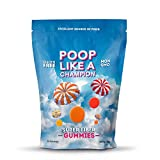 Poop Like A Champion High Fiber Gummies Packs 9 g of Fiber in Just 3 Gummies! Peach, Orange and Strawberry, Ultra Fiber, 100% Non-GMO - 1/2 LB resealable bag!