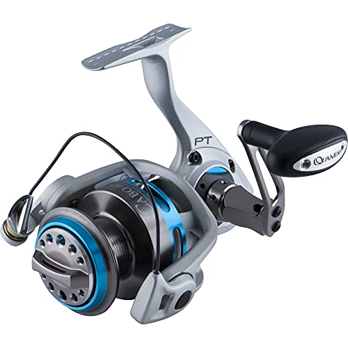 Quantum Cabo Saltwater Spinning Fishing Reel, Size 40 Reel, Changeable Right- or Left-Hand Retrieve, Magnum CSC Drag System, SCR Aluminum Body and Side Cover, Silver/Blue