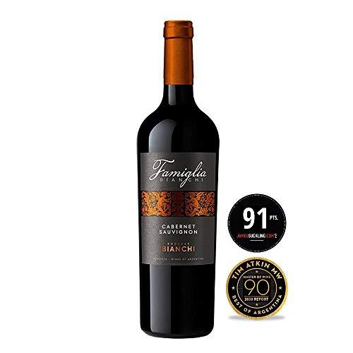 Famiglia Bianchi- Vino Tinto Cabernet Sauvignon- Vino de Gran Cuerpo y Profunda Estructura- Producto Argentino Por Excelencia- Bodegas Bianchi- 75 Cl