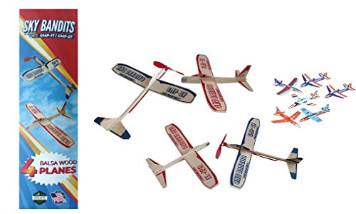 Balsa Wood and Styrofoam Airplane Toys Set - 2 Wooden Airplane Kits Which Include - 2...