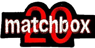 Matchbox 20 - Red & White Logo on Black Background - Embroidered Iron On or Sew On Patch