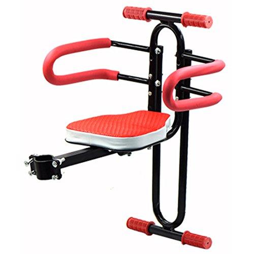 YUKIKO Kindersitz Fahrrad, Abnehmbarer Fahrrad-Vordersitz Kindersitz Pedal mit Griff für Herrenfahrrädern und Damenrädern -rot