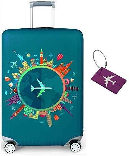 Limirror Koffer-Abdeckungen Kofferhülle, Koffer Hülle - Elastische Kofferschutzhülle mit Reißverschluss - Reisekoffer Überzug Case (Traum 1492, L/25-28)