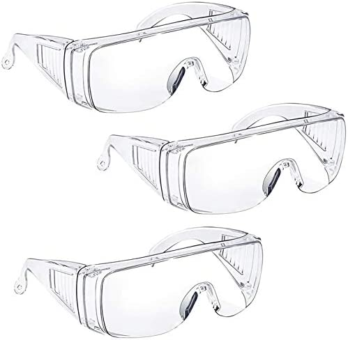 Anti Fog Safety Glasses Goggles Over Eyeglasses for Women Men Safety Goggles Over Glasses Eye product image