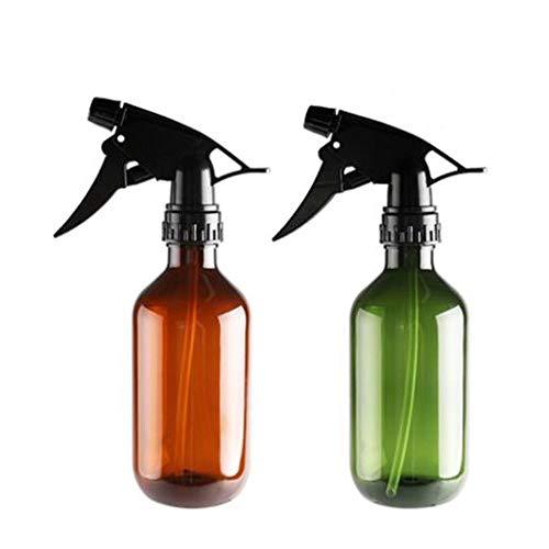 Botella de spray de vidrio vacía de 2 piezas Botella de embalaje Boston con pulverizador de gatillo negro Contenedor recargable grande para aceites esenciales,productos de limpieza o aromaterapia