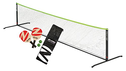 Zume Games Portable Instant Play Portable Pickleball Set Includes Paddles, Balls, and Net