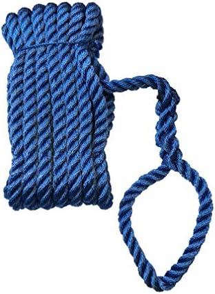 Polyester PES Tau Tauwerk blau Ankerleine gesplei/ßt Festmacherleine mit Auge gesplei/ßt 16 mm x 8 m Green Home Festmacher Leine