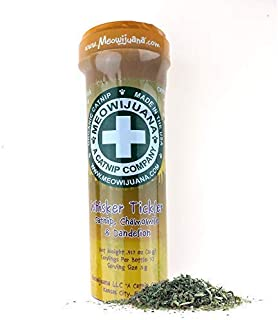 Meowijuana Whisker Tickler - Premium Catnip, Chamomile and Dandelion Blend - Your Feline Will FLIP for This 'Nip! - Cat and Kitty Approved!