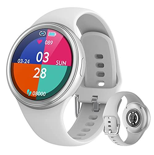 BNMY Smartwatch Reloj Inteligente Mujer IP67 con Pulsómetro 1.09 Inch Smartwatch Presión Arterial Monitor De Sueño Podómetro Pulsera Actividad Inteligente Compatible con iOS Y Android,Gris