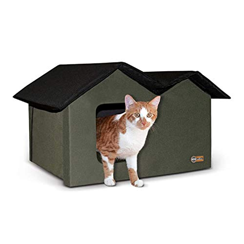 K&H Pet Products Outdoor Kitty House Extra-Wide Unheated...