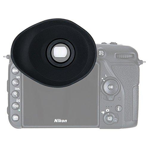 JJC Large Oval Shape Eyecup Eyepiece Viewfinder for Nikon Camera D750 D610 D600 D7500 D7200 D7100 D7000 D5600 D5500 D5300 D5200 D5100 D3400 D3300 Replaces Nikon DK-20 DK-21 DK-23 DK-24 DK-25 Eye Cup