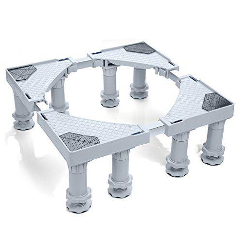 CDXZRZYH Base Ajustable Multifuncional con 8 Ruedas móviles de Rodillos para Caja Fuerte para Lavadora, Secadora y refrigerador, Gris