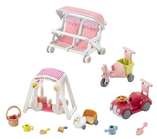 3 Play Set Bundle - Car and Trike, Swing and Double Carriage Sets (Japan Import)
