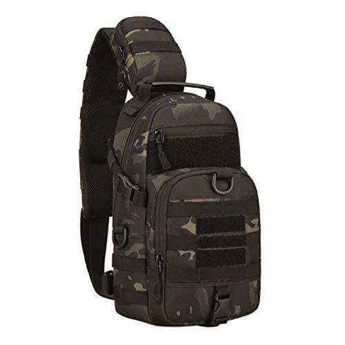 Nuova borsa a tracolla tattica Army Military Sling Bag Uomo Pesca Campeggio Viaggi Escursionismo Crossbody Camo Zaino