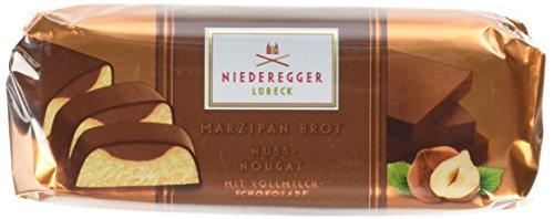 Niederegger Gefülltes Marzipan Brot mit Nuss-Nougat, 4er Pack (4 x 75 g)