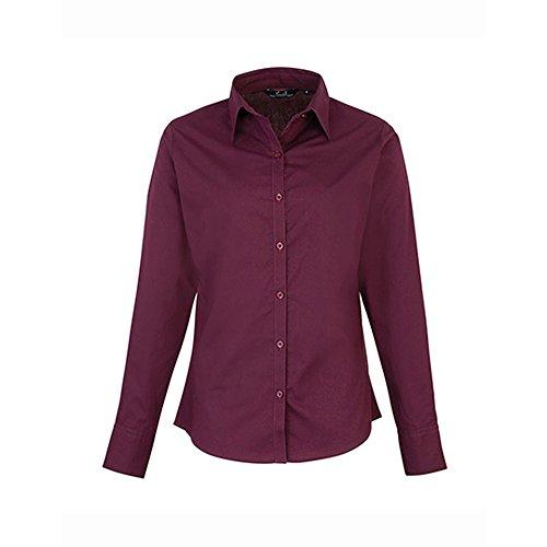 Premier notrash2003 Frauen Damen Popeline Bluse in 30 Farben und Den Größen XXS bis 6XL Nach Oeko Tex® Standard 100 und Wrap Zertifiziert Von