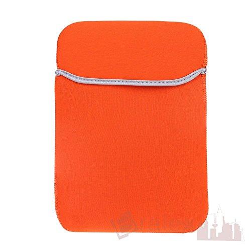 BRALEXX Universal Neopren 10 Zoll Tablet PC Hülle passend für TrekStor SurfTab Volks-Tablet 10.1, Orange
