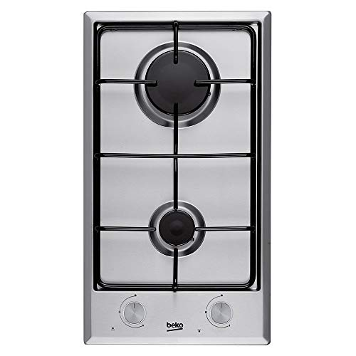 Beko HDCG 32220 FX Integrado Encimera de gas Acero inoxidable hobs - Placa (Integrado, Encimera de gas, Acero inoxidable,...