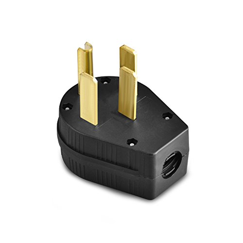 Aweking Nema 14-50P Power Plug Connector,50A 50 Amp,AC 125V 125 Volt,250V 250Volt,3 Pole 4 Wire,Grouding,Generator,Black