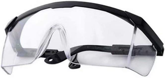 HSTFⓇ Gafas de Seguridad, Seguridad Industrial sobre Gafas - (Lente Transparente) - Patillas Ajustables Individualmente - antivaho, Resistente a los arañazos, protección